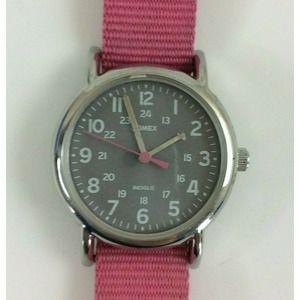 Timex Weekender Ladies Watch Pink Gray Silver Tone